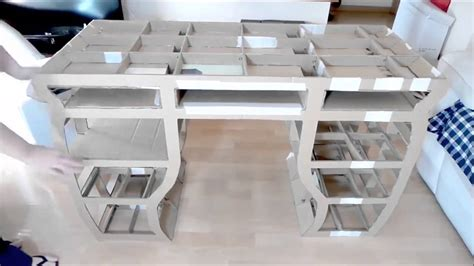Kleinen Karton Basteln by Stabilen Schreibtisch Basteln Aus Karton Pappe
