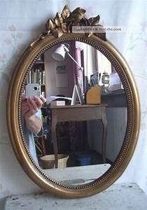 Spiegel Oval Antik : antik spiegel wandspiegel frankreich holz stuck gold oval jugendstil shabby chic ~ Frokenaadalensverden.com Haus und Dekorationen