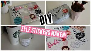 SIMPELE DIY: JE EIGEN STICKERS MAKEN! ♥ MADEBYNoelle - YouTube