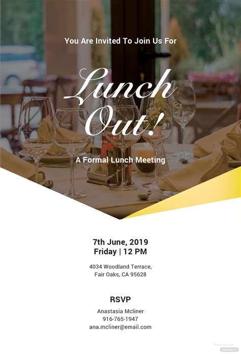 formal lunch invitation template  microsoft word