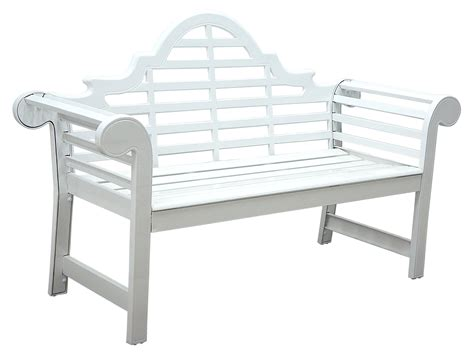 patio furniture bench cast aluminum 5 ft lutyens white