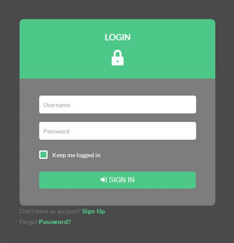 create a login form in html css with source code