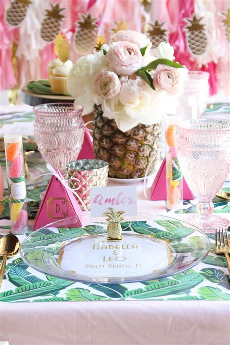 Ideas And Inspiration For A Tropical Themed Bridal Shower