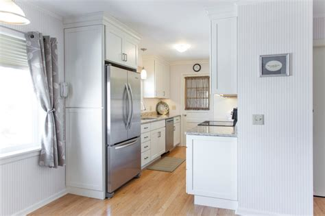 white galley kitchen pictures white painted shaker galley kitchen with quartz 1307