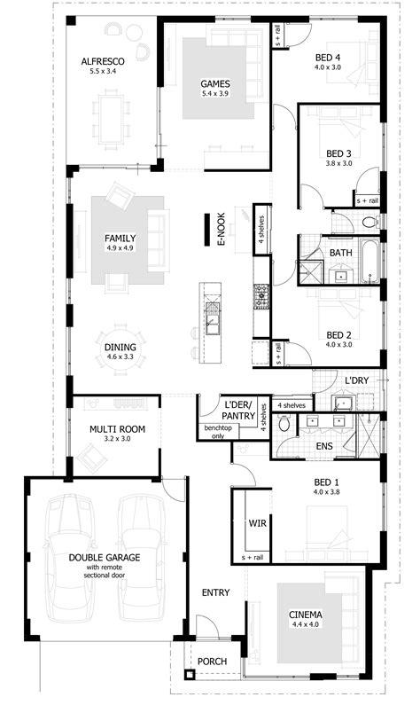 4 bedroom house plan 4 bedroom house plans home designs celebration homes