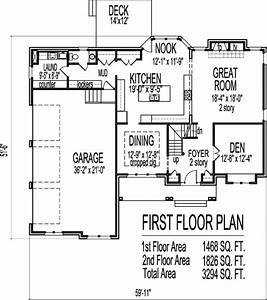 Arts and crafts two story 4 bath house plans 3000 sq ft w for 3000 square foot house plans 2 story