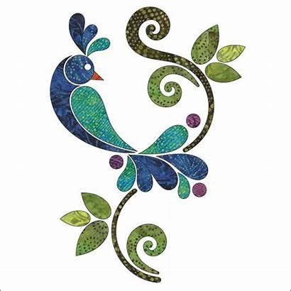 Peacock Applique Batik Quilt Clipart Patterns Pattern