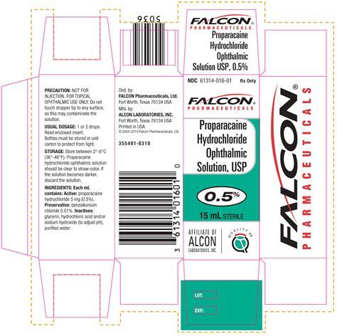 proparacaine hydrochloride falcon pharmaceuticals