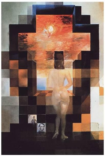 Dali Salvador Paintings Illusion Optical Lincoln Painting