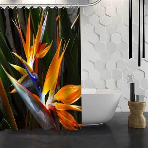 bird of paradise shower curtain charmhome sale custom bird of paradise flower custom