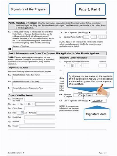 131 Document Travel Application Filling Form I131