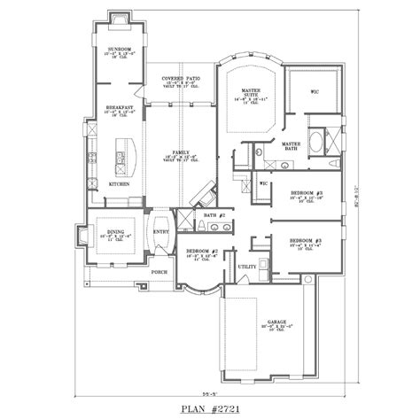 Single Story 4 Bedroom House Plans Home Ideas