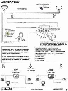 Headlight Dimmer Switch Wiring Diagram  Headlight Switch Toms Bronco Parts