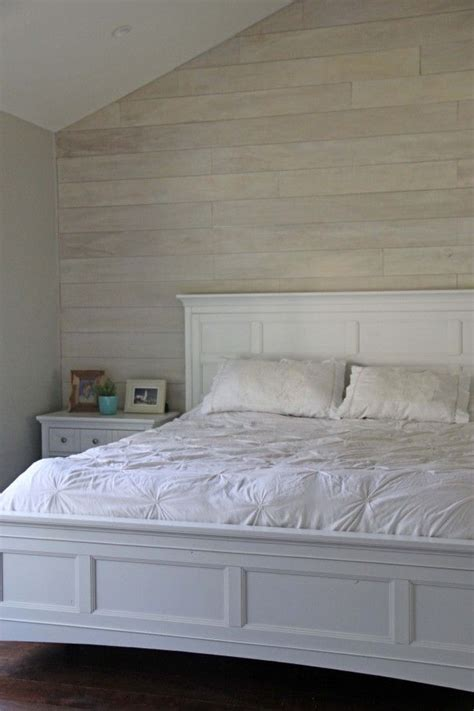 image result  white washed shiplap wall  bed home decorating ideas pinterest