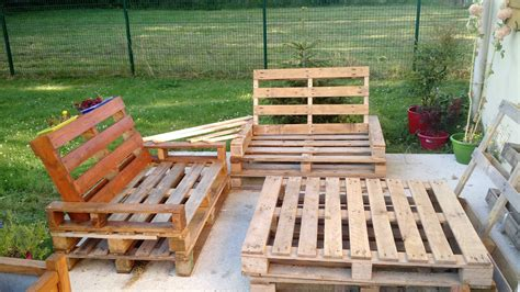 chaise en palette mobilier de jardin en palette