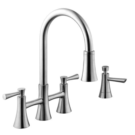 2 handle pull kitchen faucet schon 925 series 2 handle pull down sprayer kitchen faucet with soap dispenser in stainless