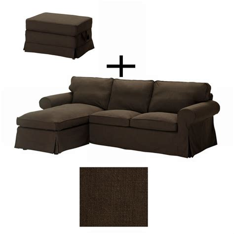 ikea ektorp loveseat with chaise and bromma footstool