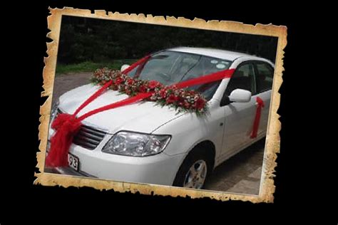 car decoration wedding snaps