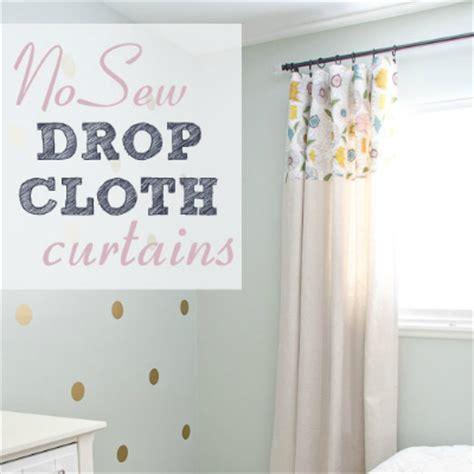 Diy No Sew Drop Cloth Curtains  Hometalk
