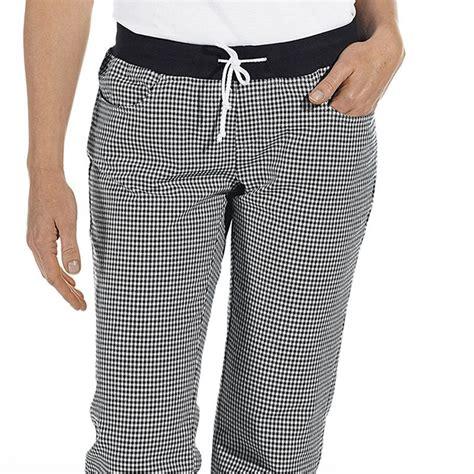 pantalon de cuisine pantalon de cuisine femme ceinture en maille noir et