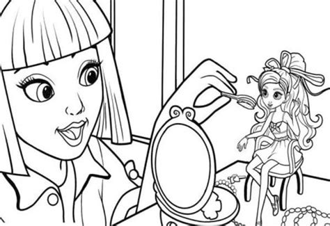 Makeup Artist Coloring Pages