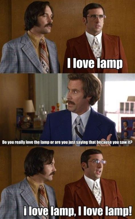 steve carell i love l quote scene in anchorman the legend of ron burgundy
