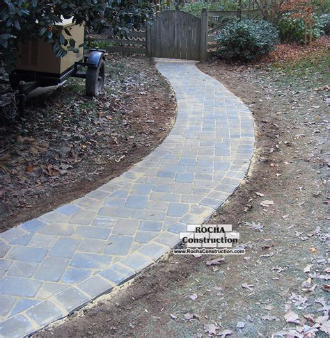 pictures of walkways with pavers paver and brick walkway rocha construction silver spring md