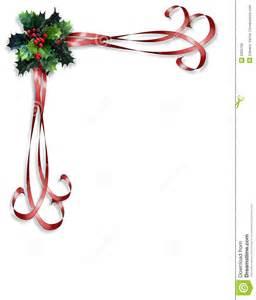 Christmas Holly Ribbon Border