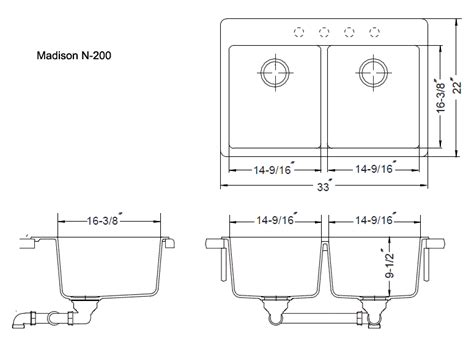 Sink Measurements - kitchen and bar sinks extremely durable