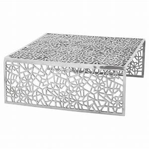 Table De Salon Carrée : table basse de salon carr e lady en aluminium ~ Teatrodelosmanantiales.com Idées de Décoration