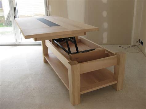si鑒e de relevable table basse quot réservée karine quot en bois plateau relevable meubles et rangements par lartelier