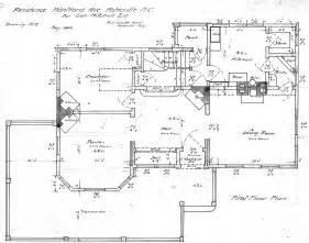 draw house plans residence montford ave for lon mitchell esq floor plan drawing no 2 lon and mrs