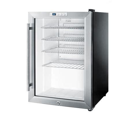 refrigerator with glass door summit appliance 2 5 cu ft glass door mini refrigerator