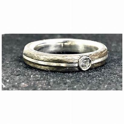 Ring Diamond Raw Wood Promise Mens Engagement