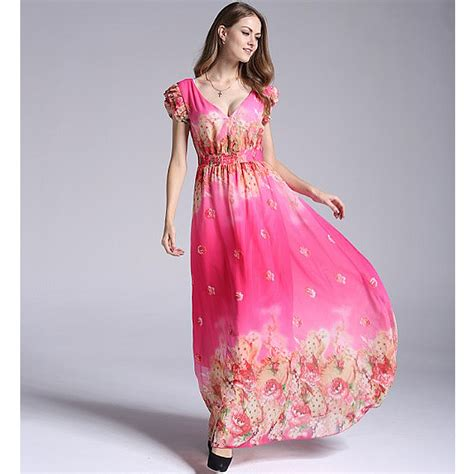 Plus Size Women Pink Party Casual Smocked Cap Sleeve Long