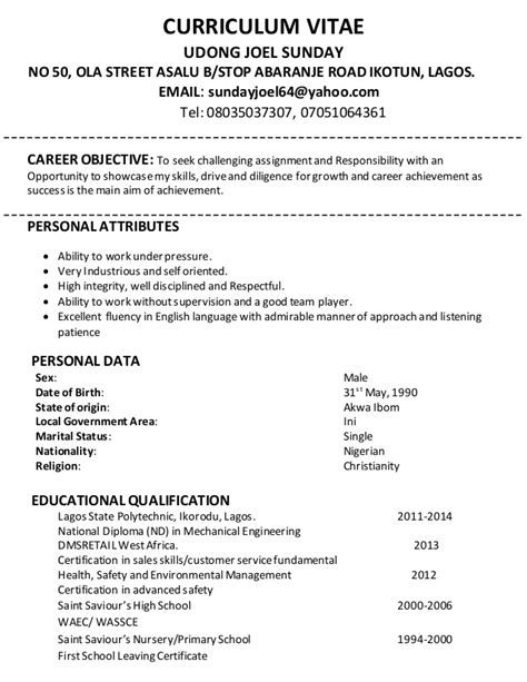 Cover Letter For A Curriculum Vitae Exles by Curriculum Vitae Cover Letter