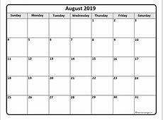 August 2019 calendar 51+ calendar templates of 2019