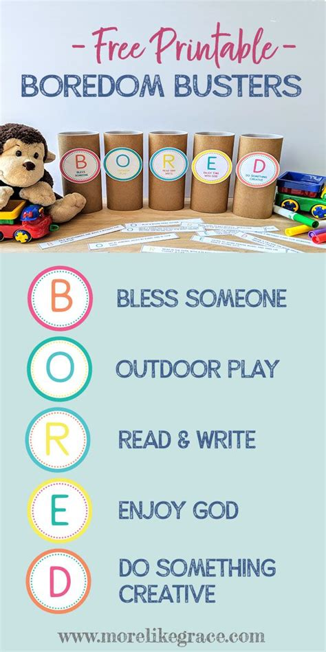 Free Printable Boredom Busters in 2020 Business for kids