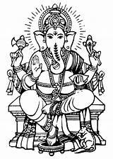 Ganesha Lord Drawing Sketch Drawings Clip Ganesh Ganpati Paintings Coloring Outline Tattoo Jai Sheets Krishna Amazing sketch template