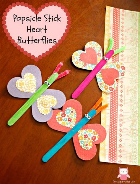 and craft ideas popsicle stick butterflies day craft for 7283