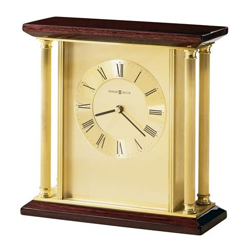 Howard Miller Carlton Brass Table Clock 645391