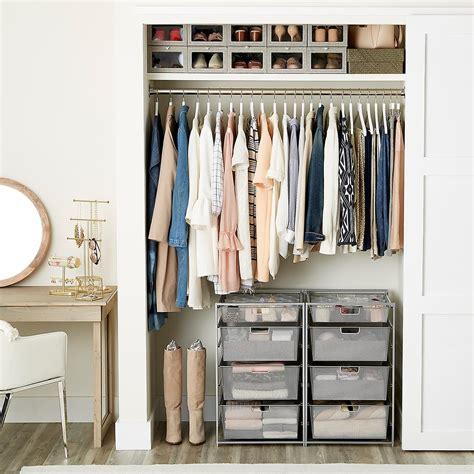 walnut white elfa decor reach  closet  container