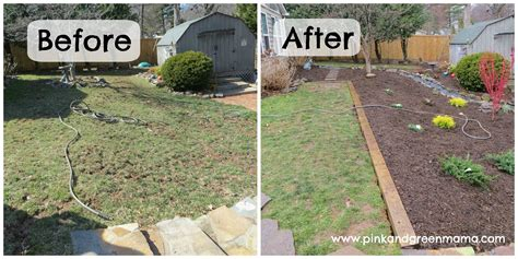 pink and green diy backyard makeover on a budget