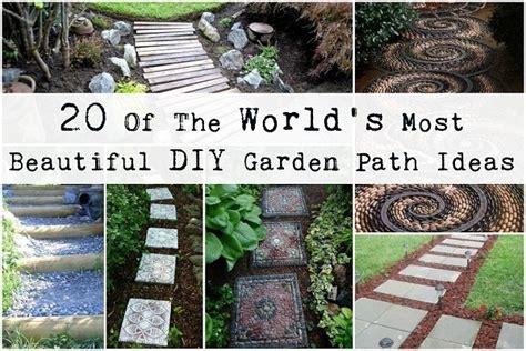 worlds  beautiful diy garden path ideas