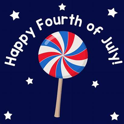 July Happy 4th Fourth Lollipop Festive Wishes