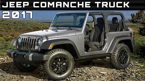 2017 Jeep Comanche Truck Review Rendered Price Specs