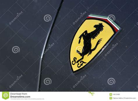 ferrari logo  gray sport car editorial image image
