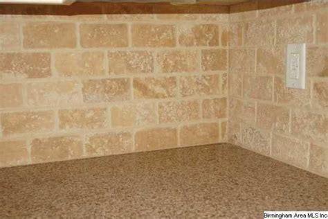 tumbled marble backsplash  beautiful   subway tile