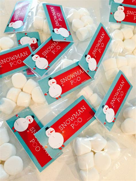 snowman poo aka marshmellows christmas gift for