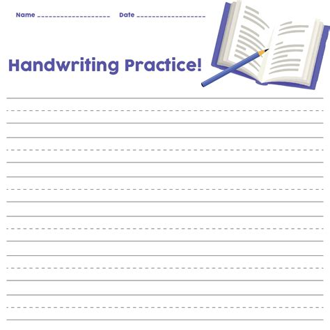 printable handwriting paper template printableecom